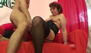 Emo grandma jana pesova screwed all round despondent nylons