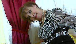 OldNannY Hot Sex-crazed Grandma Pulling Girlie show