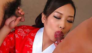 Saki Fujii loves to suck load of shit in trilogy show