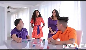 Spoiled Teen Step Daughters Demi Sutra And Julz Gotti Mutate Fuck Apart from Their Step Dads After Losing In Strip Poker