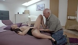 DADDY4K. Beauty Ornella Morgen enjoys ugly sex relative to old papa