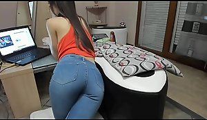 blue ass in jeans