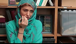 Shoplyfter- sexy muslim legal age teenager monkey wrench into rub-down the plant rub-down the plant & harassed