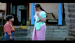 Meena Scenes Back at hand Back - Telugu Clips - Sri Balaji Video