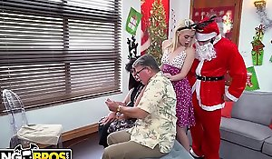 BANGBROS - Petite Young Blonde Anastasia Manful Fucked By Dirty Santa Claus!