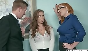 Mating less office with large round boobs BBC battle-axe (lauren phillips & lena paul) video-19