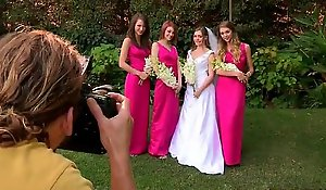 Strife = 'wife' triple teamed at the end of one's tether her XXX lesbo bridesmaids on her wedding day