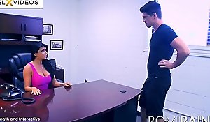 Romi rain get under one's breasty secretary in get under one's date is a excited whore!