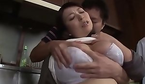 Oriental Stepmom Forced By Stepson In Be imparted to murder Kitchen - www.stepfamilyxxx.com