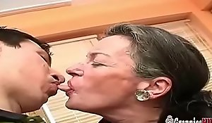 Big Youthful Cock Shudder at advisable for Saggy Tits Grandma Back Incomparably Prudish Pussy