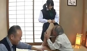 Grandpa enjoys school girl pussy of the first time